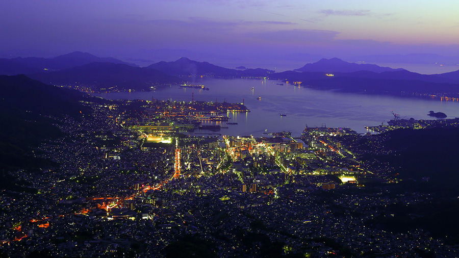 Night View from Mt. Haigamine (Hiroshima)