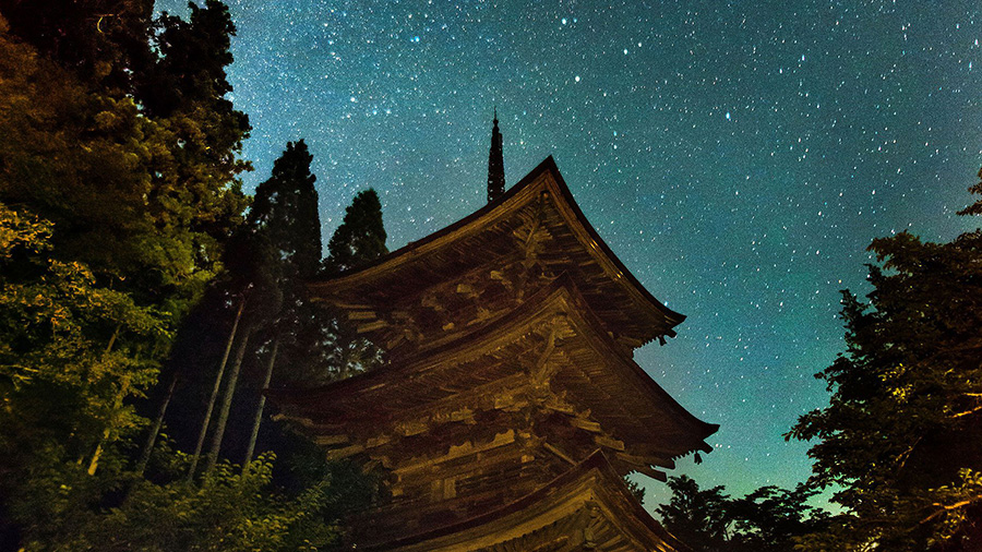 Three-storied Pagoda, Shinkaisansha-jinja Shrine (Nagano)